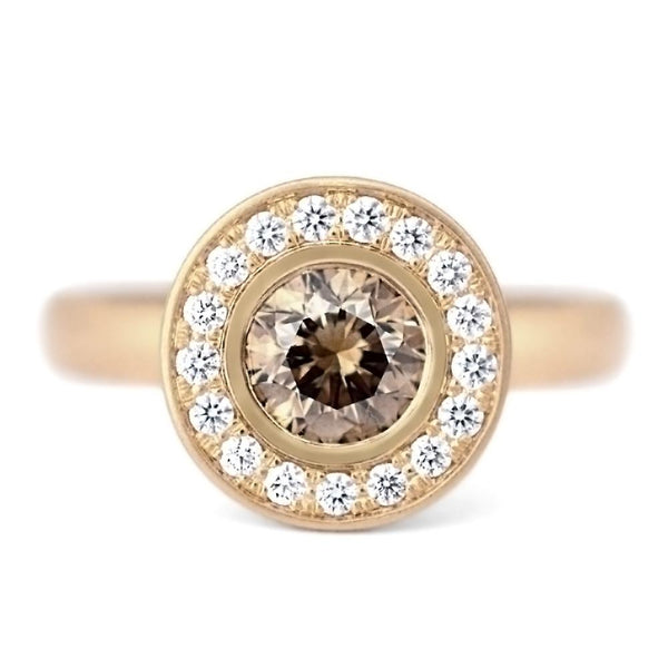 One of a Kind Cognac Diamond 'Martini' Ring - Anne Sportun Fine Jewellery