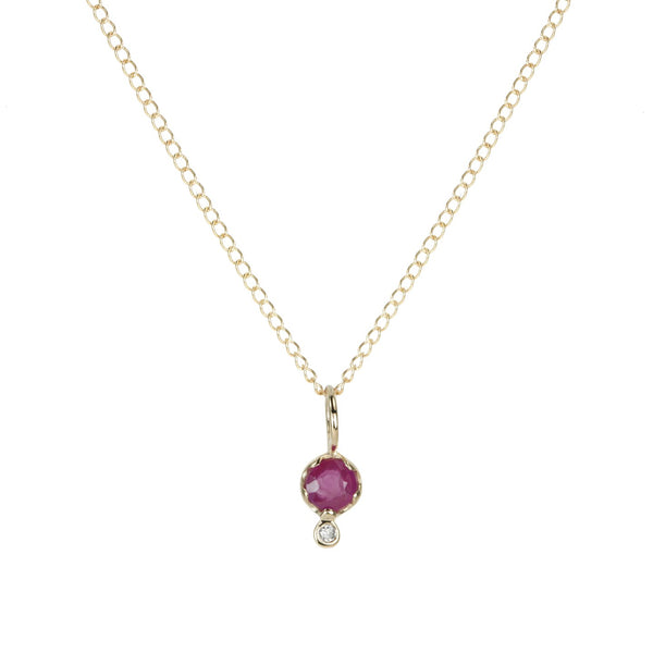 GEMSTONE AMULET  | RUBY | 10K GOLD