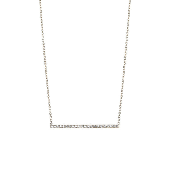 PAVE THIN BAR NECKLACE - Anne Sportun Fine Jewellery