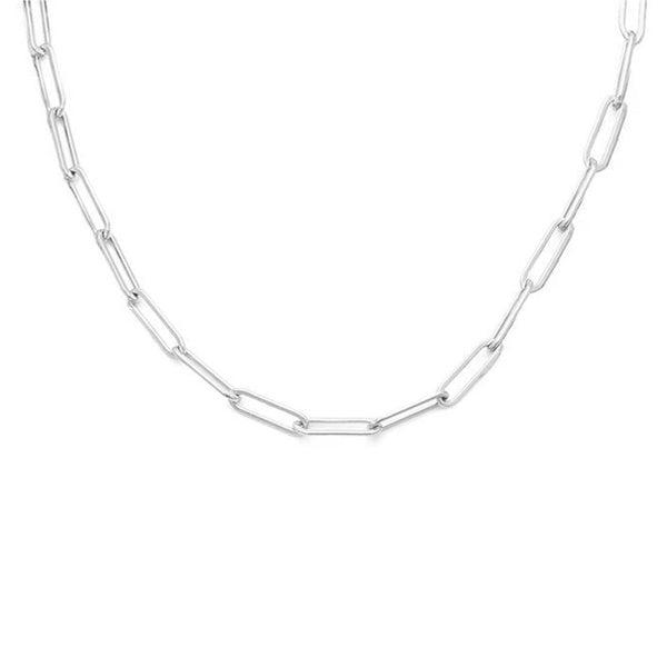 HAILEY PAPERCLIP CHAIN | SILVER