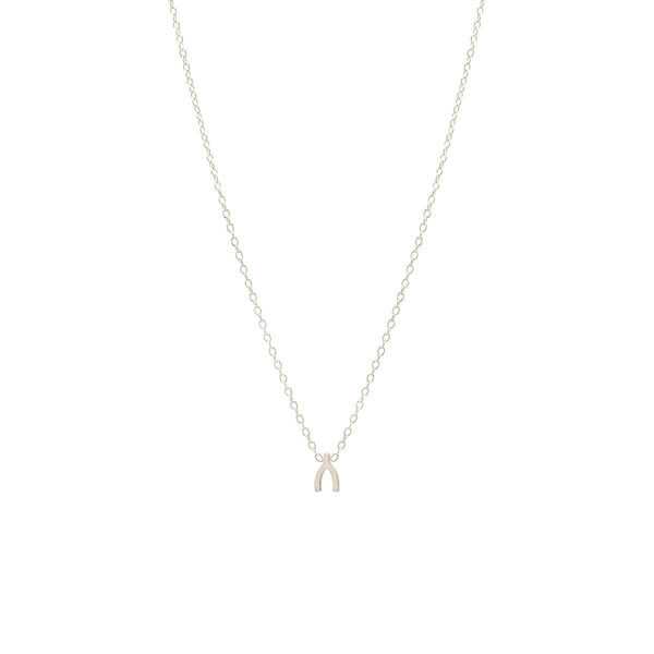 ITTY BITTY WISHBONE NECKLACE - Anne Sportun Fine Jewellery