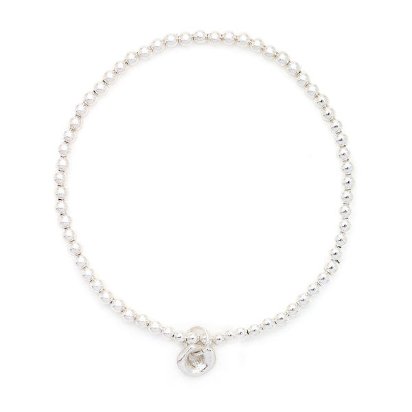 Medium Stetchie Baby Lucky Bracelet - Silver