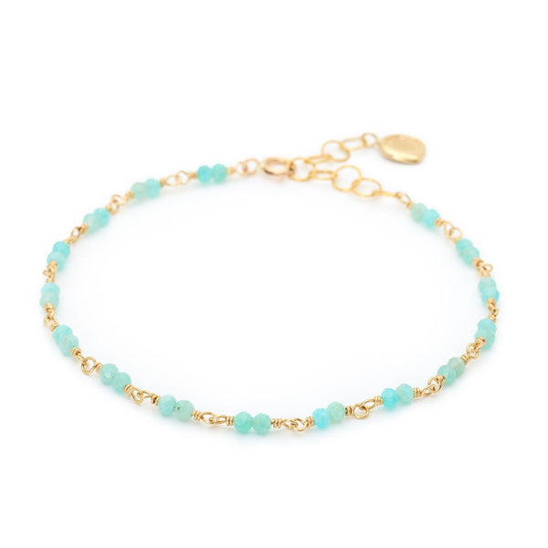 Gold Tied Gemstone Bracelet - Anne Sportun Fine Jewellery