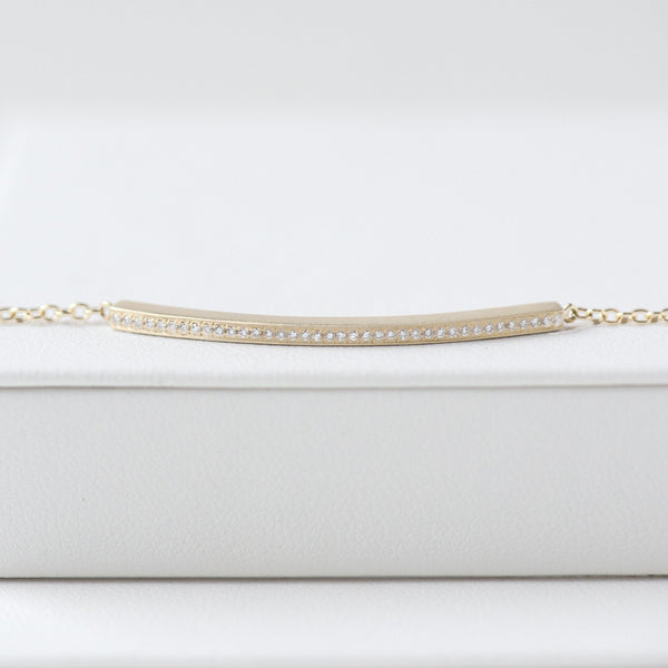Diamond Bar Chain Bracelet - Anne Sportun Fine Jewellery
