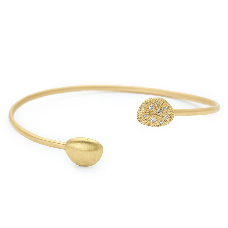 Petal Open Diamond Bangle - Anne Sportun Fine Jewellery