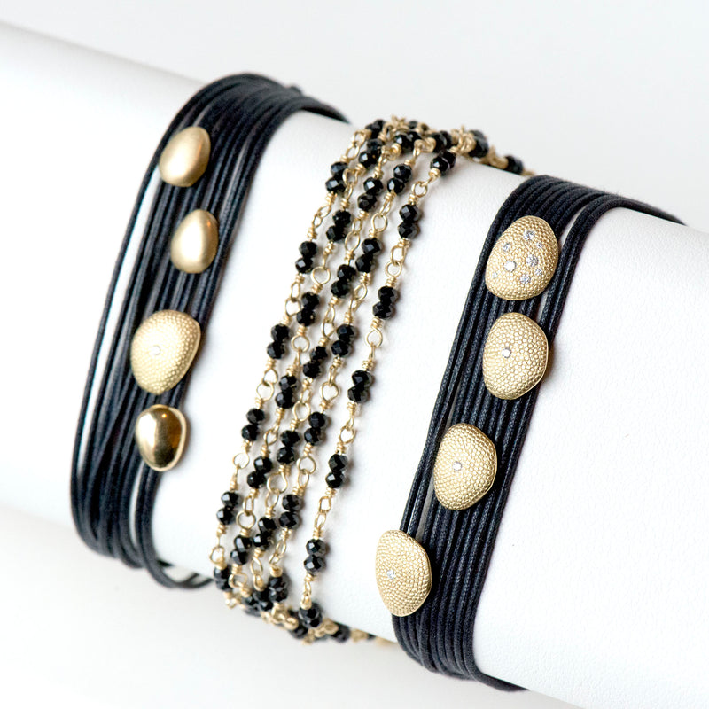 Gold Tied Gemstone Wrap Bracelet - Anne Sportun Fine Jewellery