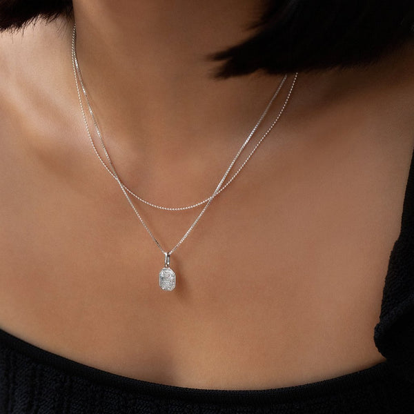 LOVE TOKEN NECKLACE - SQUARE | SILVER