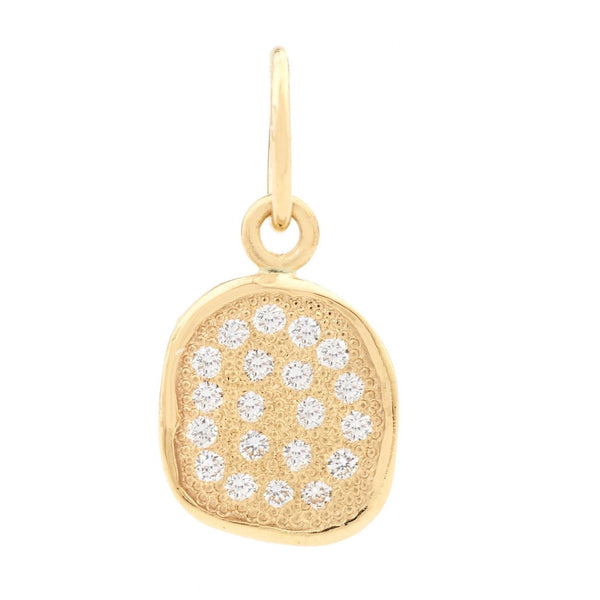 Gold Stardust Pebble Charm - Anne Sportun Fine Jewellery