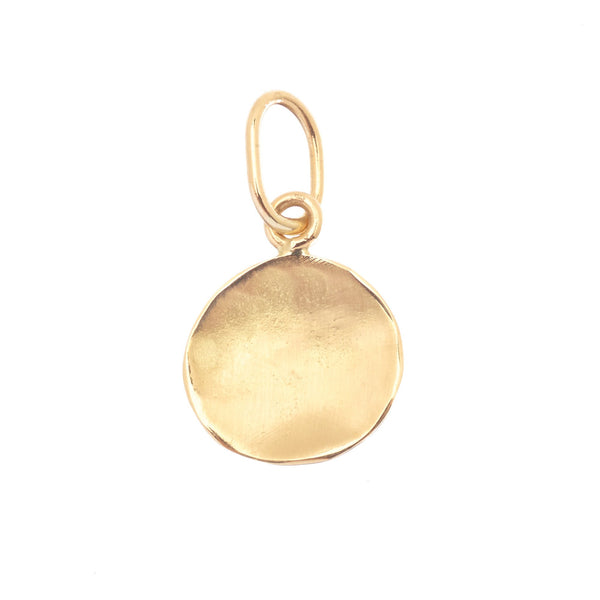 Simple Concave Disc Charm - Anne Sportun Fine Jewellery