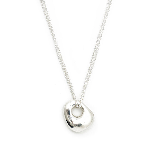 """Mod"" Luck Double Chain Necklace - Silver"