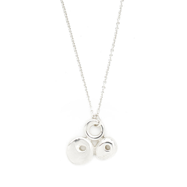 Large Triple Luck Necklace - Silver