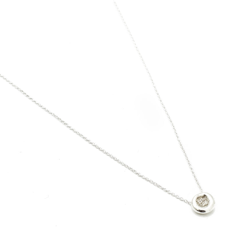 """Button"" Luck Necklace - Silver"