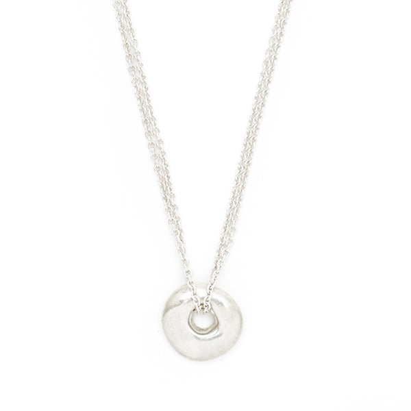 "Silver ""Circle"" Luck Necklace"