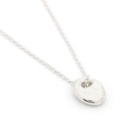 """Pebble"" Luck Necklace - Silver"