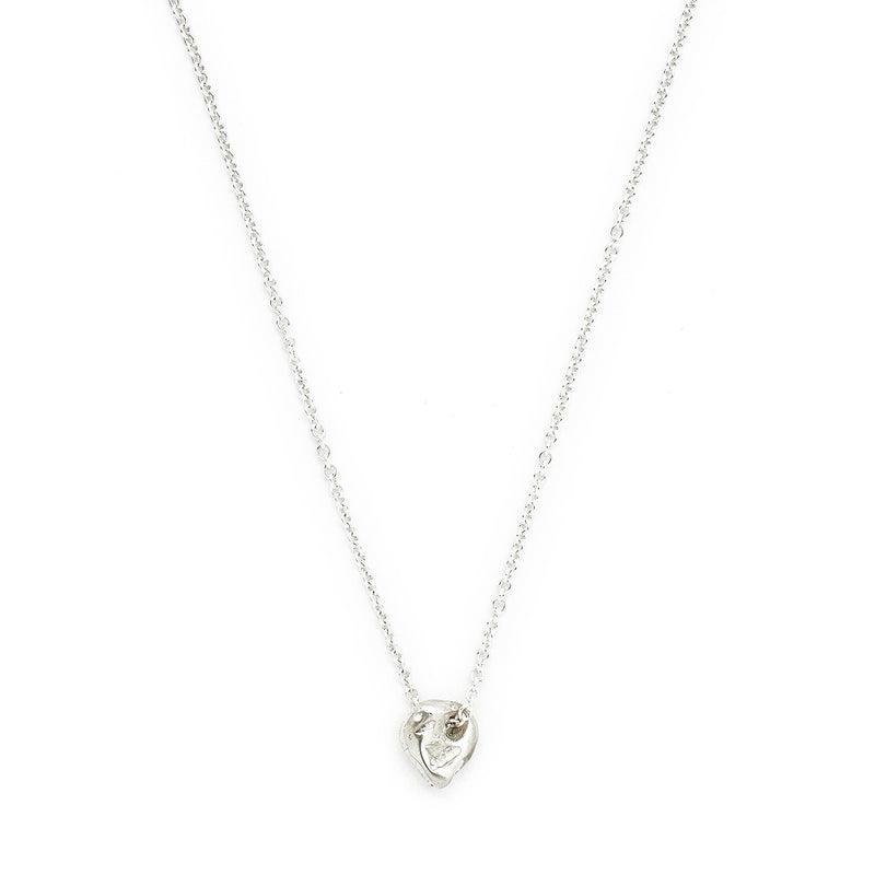 """Straw"" Luck Necklace - Silver"
