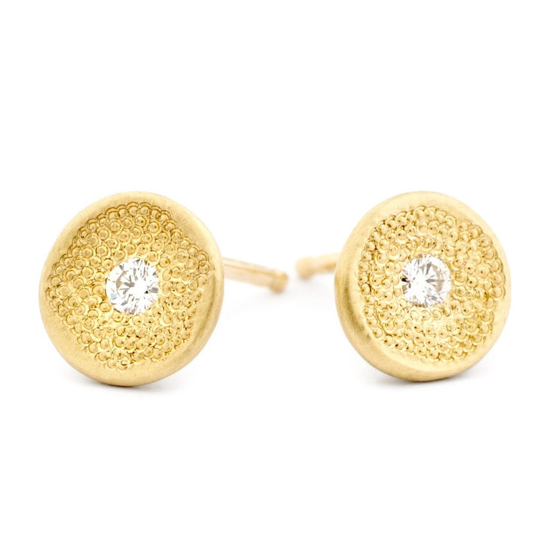 Mini Beaded Texture 'Stardust' Earrings - Anne Sportun Fine Jewellery