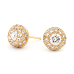 Pave Diamond Turkish Ball Earrings - Anne Sportun Fine Jewellery
