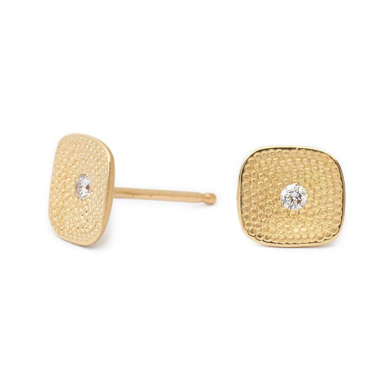 Square Stardust Diamond Stud Earrings - Anne Sportun Fine Jewellery