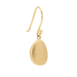 Gold Pod Drop Petal Earrings - Anne Sportun Fine Jewellery