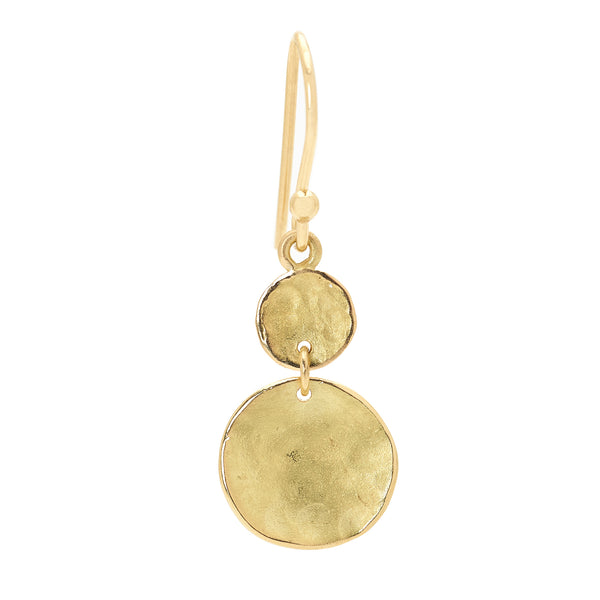 Double Hammered Disc Earrings - Anne Sportun Fine Jewellery