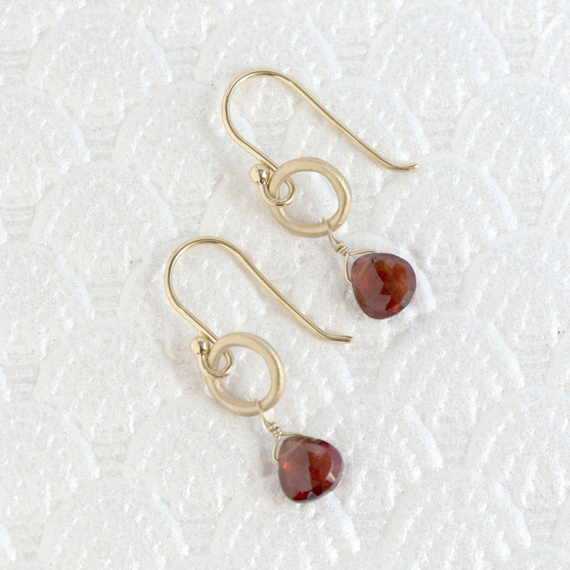 Heart Gemstone Briolette Earrings - Anne Sportun Fine Jewellery