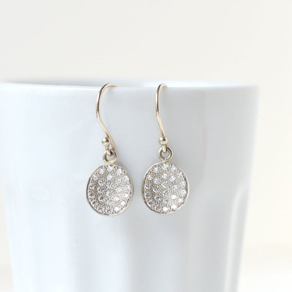 Mini Pave Petal Earrings - Anne Sportun Fine Jewellery