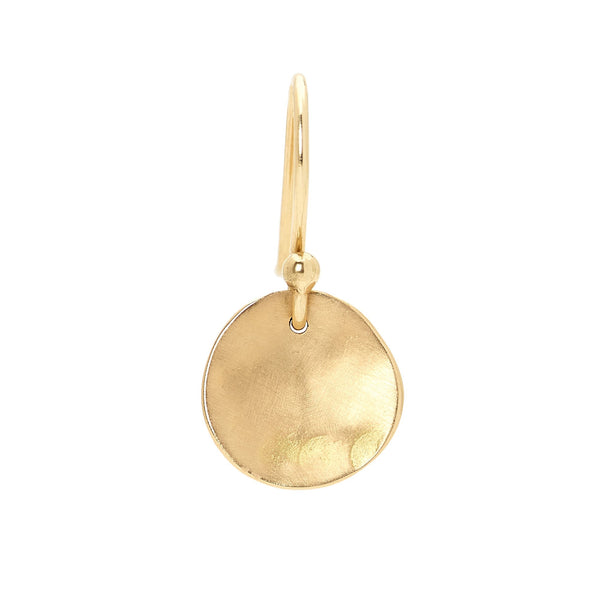 Petite Gold Round Disc Earrings - Anne Sportun Fine Jewellery