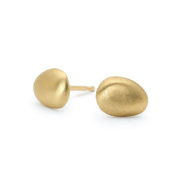 Matte Finish Petal Stud Earrings - Anne Sportun Fine Jewellery