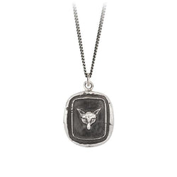 FOX TALISMAN NECKLACE - SILVER