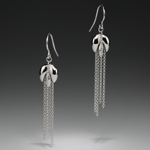 HARVEST MINI SILVER EARRINGS - Anne Sportun Fine Jewellery