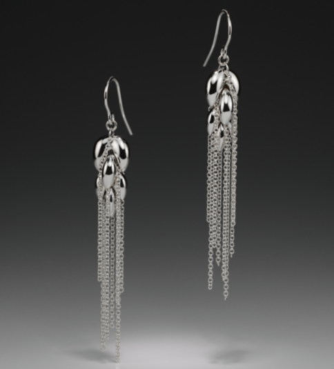 HARVEST SMALL SILVER EARRINGS - Anne Sportun Fine Jewellery