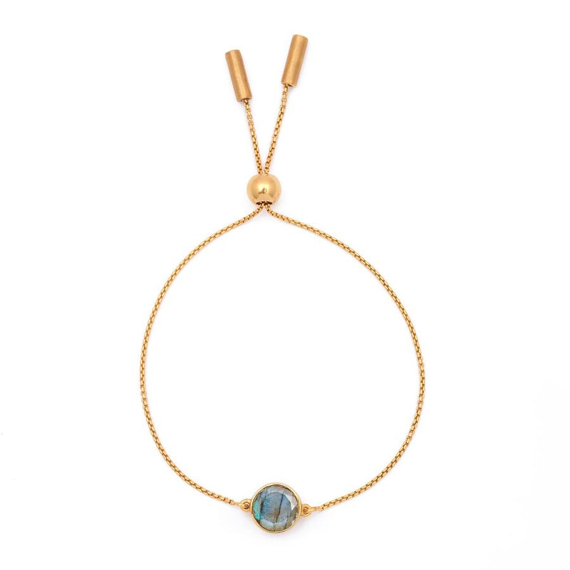 Core Knockout Bracelet -  Gold & Labradorite
