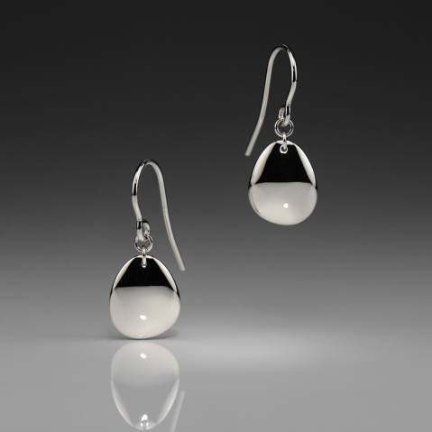 INK SMALL SILVER EARRINGS - Anne Sportun Fine Jewellery