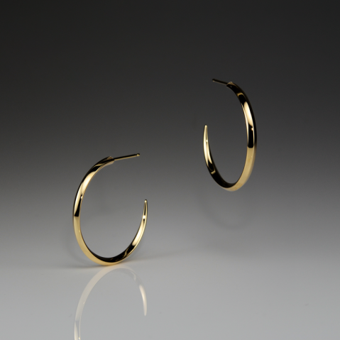 IRIS MEDIUM GOLD HOOPS - Anne Sportun Fine Jewellery