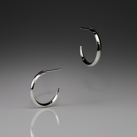 IRIS SMALL SILVER HOOPS - Anne Sportun Fine Jewellery