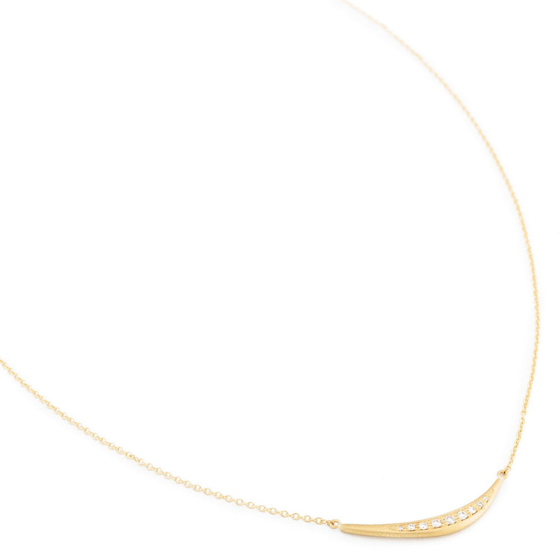Horizontal 'Crescent Flow' Necklace - Anne Sportun Fine Jewellery