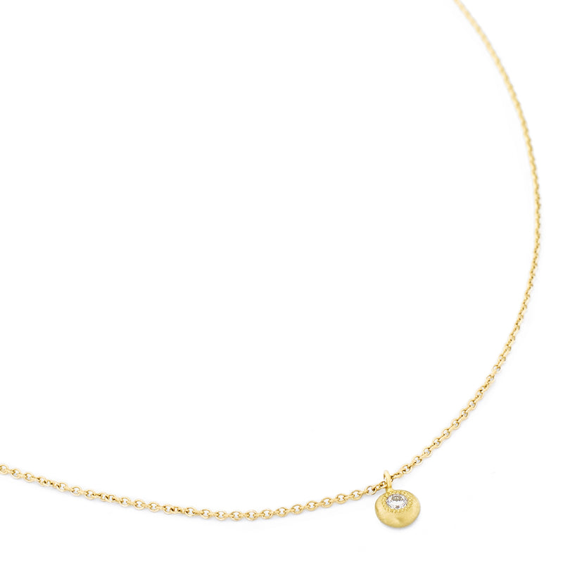 Diamond Gold Button Stardust Necklace - Anne Sportun Fine Jewellery