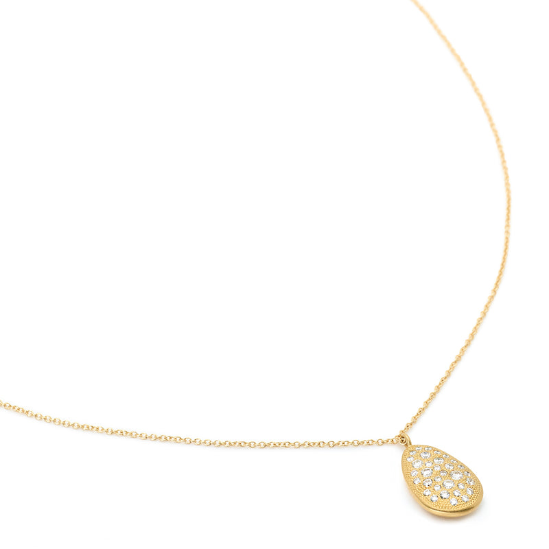 Gold Drop Petal Necklace - Anne Sportun Fine Jewellery