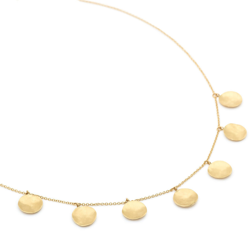 Seven Hammered Disc Necklace - Anne Sportun Fine Jewellery