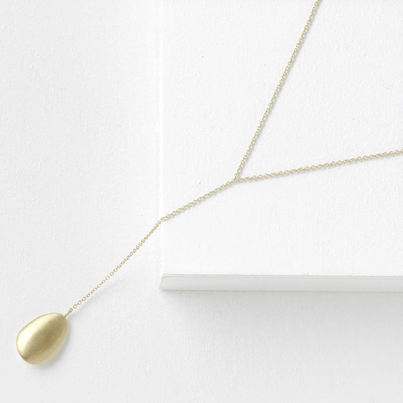 Petal Oval Pendant Drop Chain - Anne Sportun Fine Jewellery