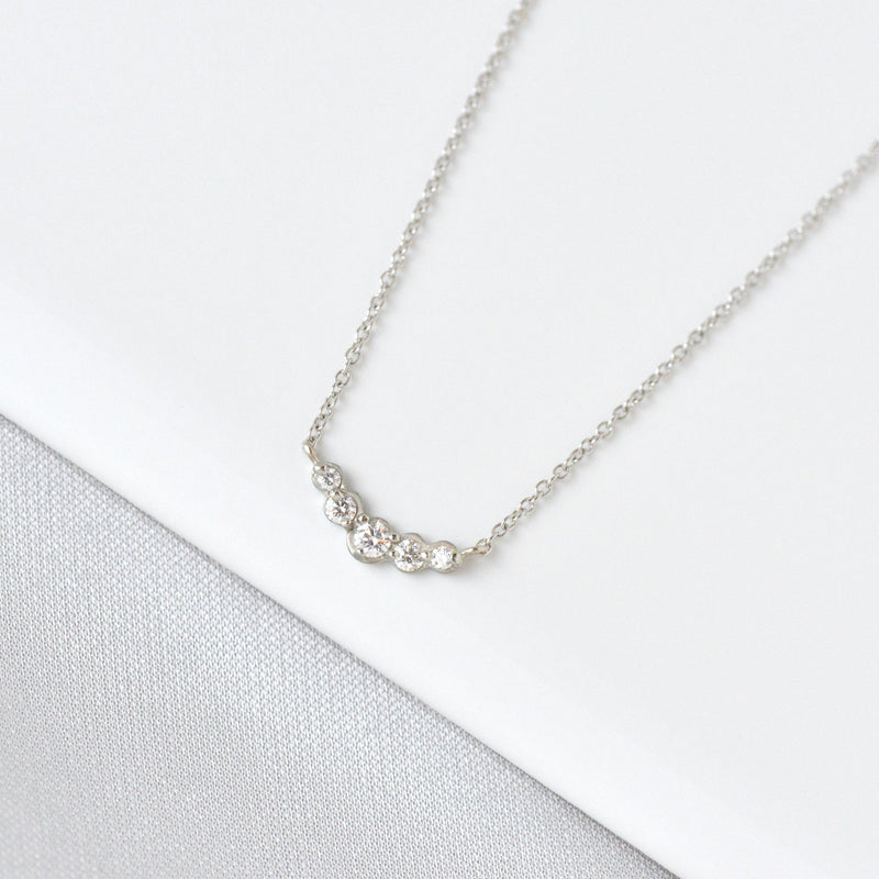 Small Graduated Diamond Necklace - Anne Sportun Fine Jewellery