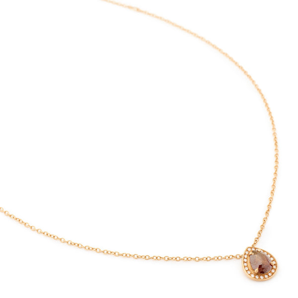 Brown Rosecut Diamond Necklace - Anne Sportun Fine Jewellery