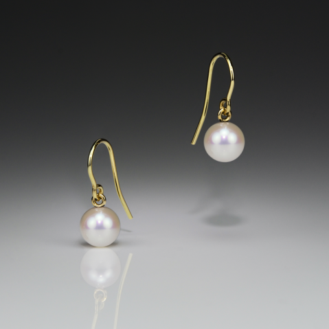 Pearl Small Gold Earrings