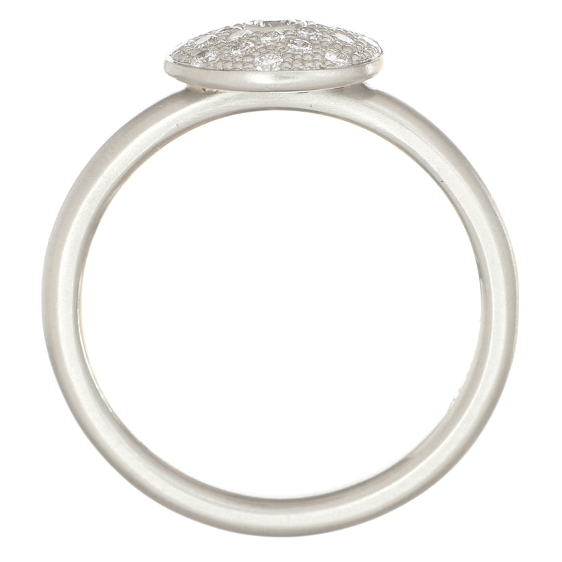 Gold Pave Disc Ring - Anne Sportun Fine Jewellery