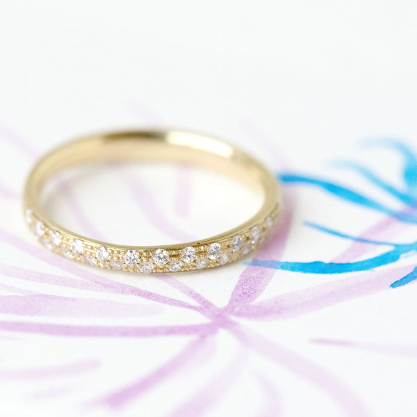 Narrow Pave Diamond Band - Anne Sportun Fine Jewellery