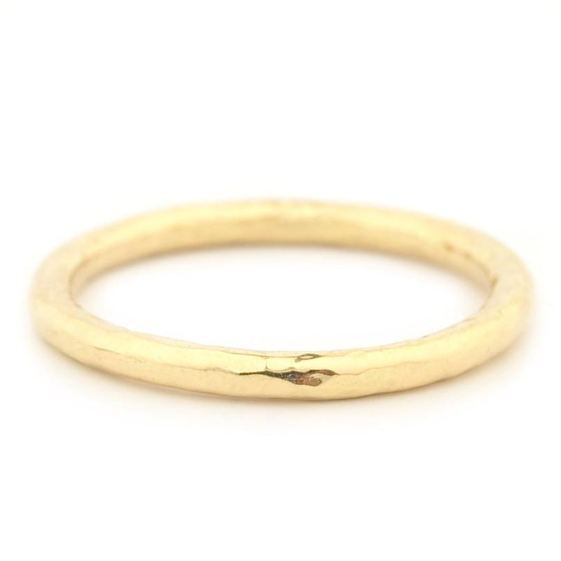 Hammer Finish Band - Anne Sportun Fine Jewellery