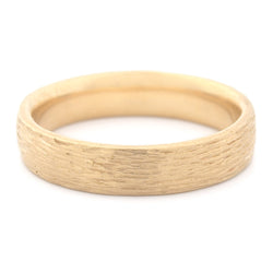 Men's Bark Finish Medium Band - Anne Sportun Fine Jewellery