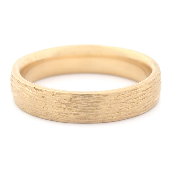 Men's Bark Finish Medium Band - Anne Sportun Fine Jewellery Toronto, Canada, and U.S.