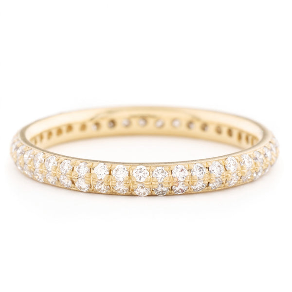 Two Row Pave Band - Anne Sportun Fine Jewellery Toronto, Canada, and U.S.