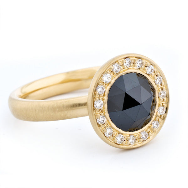 Rosecut Black Diamond Ring - Anne Sportun Fine Jewellery Toronto, Canada, and U.S.